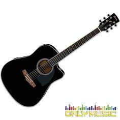 Guitarra Electroacústica Ibanez Color Negro