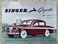 SINGER-GAZELLE-Car-Sales-Brochure-c1960-585H-SALOON-Convertible-ESTATE-CAR