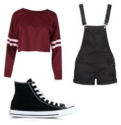 """""""Untitled #30"""" by spikeytwister on Polyvore featuring Boohoo and Converse"""