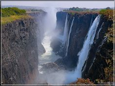 Victoria Falls, Zambia, Zimbabwe...I love waterfalls and would love to see this.