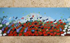 Large Abstract Painting acrylic Painting Flowers by isitfine, £139.00
