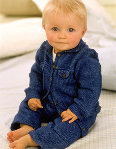 Knitting pattern of the week: Baby Denim Collection