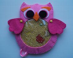 "Owl Bird Sensory Toy I spy bag ""Treasure Hunt"" Baby Nursery Developing Stuffed Toy Decor Kids Animal Handmade Sweet Little Eco-Friendly #17"