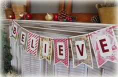Cottage Charm Creations: holiday banners for sale