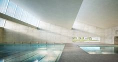 Pool Interior, École Pool in Nyon by nightnurse.ch for FHV Architects