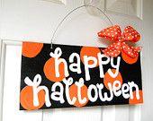 MINI Boo Polka Dot Sign - cute polka dot signs - halloween signs - halloween decorations