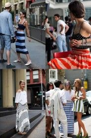 If You're Thinking About….Striped Skirts #thesartorialist #streetfashion