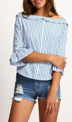 http://www.shein.com/Blue-Boat-Neck-Bell-Sleeve-Vertical-Stripe-Blouse-p-265725-cat-1733.html