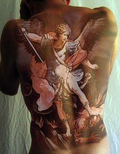 St. Michael Tattoo Design by aidan8500.deviantart.com on @DeviantArt
