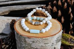 •Amazonite: Owing to its powerful filtering action, amazonite promotes clarity by dispelling negative energy, aggravation, and blockages within the nervous system. This soothing stone also supports universal love by encouraging empathy and balancing masculine and feminine energies.