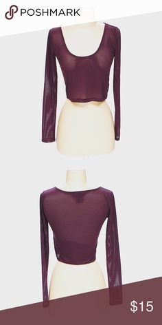Forever 21 Long Sleeve Shirt Long sleeve shirt in Maroon! *All photos are of actual items* Forever 21 Tops Tees - Long Sleeve