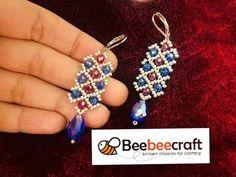 Beebeecraft Tutorial ||Beadicted Earrings || How to make Beaded Earrings - YouTube