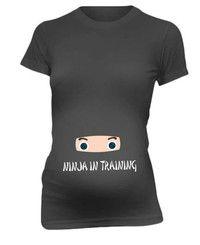 Wish | Ninja In Training Funny  Maternity T-Shirt Baby Shower Gift  Pregnancy Tee Shirt
