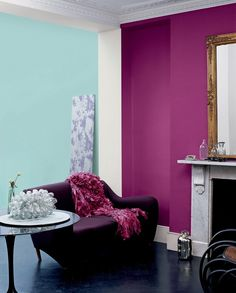 Features crown paints feature wall range- scrumptious home d Feature Wall Living Room, Accent Walls In Living Room, Bedroom Wall Colors, Wall Colours, Bedroom Ideas, Interior Walls, Living Room Interior, Home Living Room, Living Room Designs