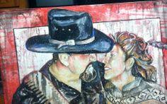 Art by Ramiro Ordonez Acrylic Painting   Title:  The Kiss