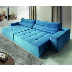 Sofá Sublime 5 Lugares - Azul - {BRV Móveis}, {Móveis Carraro}, {Mobizza}, Idea Mobili, Sala de Estar, Sala de Jantar, Cozinha, Decoração