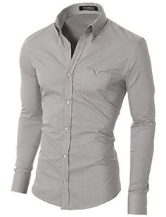 MODERNO Urban Casual Slim Fit Long Sleeve Shirt