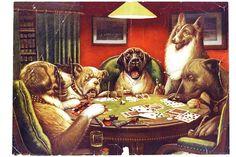 Humanos atuando animal - - animal Cães jogando cartas