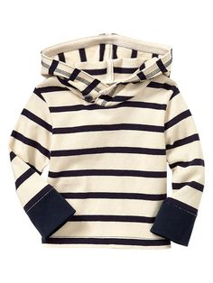 i want this for baby boy so bad!!  Gap | Striped hoodie