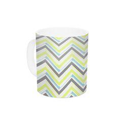 Ideal by CarolLynn Tice 11 oz. Yellow Ceramic Coffee Mug