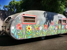 Photographer Joy Prouty's 1950 Spartanette trailer~Hand painted by Artist Katie Daisy ✿