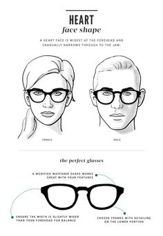 91849637ec A Visual Guide to Choose Eyeglass Frames for Your Face Shape in 2019 ...
