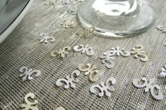 Fleur De Lis Confetti  Wedding Decorations Table by JuneToMay, $12.50