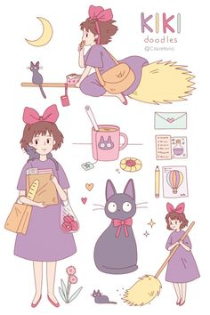 Kiki's Delivery Service by Clairetonic on tumblr