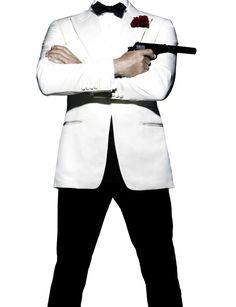 James Bond Spectre Tuxedo ON SALE - Buy Daniel Craig Ivory White Tuxedo Jacket Made with Premium Quality Fabric and Detailed Stitching Throughout