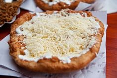 Lángos - deep fried bread pasta. You can find it at markethalls and beaches. #Budapest #Hungary #gastronomy