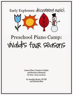 The Teaching Studio: Now Available: Vivaldi's Four Seasons Preschool Piano Camp!