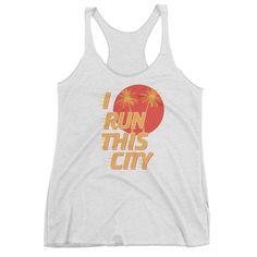 I Run This City Triblend Tank Top - Ladies'