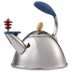 Michael Graves Tea Kettle from Target  Have this -- Already melted the little yellow knob on the lid.  :-(