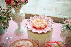 Lima Limão - festas com charme: Batizado da Sophia: rosa de porcelana