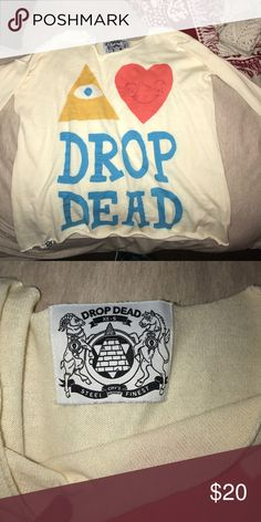 Drop Dead 3/4 sleeve shirt Never worn, perfect condition. Super soft Hot Topic Tops Tees - Short Sleeve