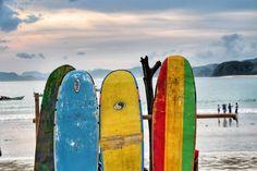 Surfing in Kuta, Lombok