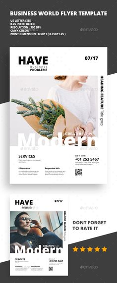 modern creative flyer 03 flyers print templates