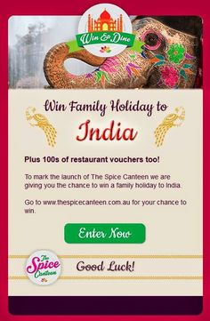 TICCA: Travel Industry Curry Club: Win a family holiday to India and 100's of restaurant vouchers too