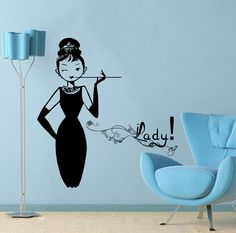 Girl Woman Lady Wall Decal Vinyl Sticker Wall Decor by CozyDecal, $12.99