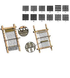 Two types of looms employed during the Iron Age in Europe, the warp weighted and tubular looms.