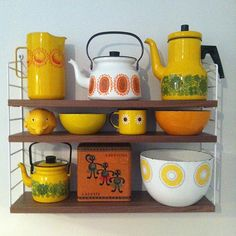 Finel Finland yellow enamelware