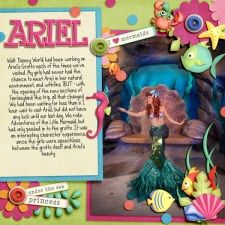 Adorable Little Mermaid Disney scrapbook page layout