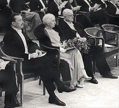 Jean Sibelius with his wife Aino and the previous President of Finland, Mannerheim, in Sibelius' 70th birthday reception. #Mannerheim #Sibelius