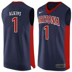b35fa1852f5 Men Arizona Wildcats #1 Rawle Alkins College Basketball Jerseys Sale-Navy