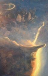Untitled Nebulae 1 of 3, 2006, Oil on MDF board, 16.25″x 24.75″