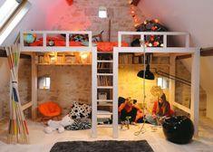 Kids Bedroom Mezzanine 10 idées pour des chambres partagées | kids rooms, lofts and room