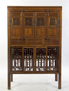 Lot 3018 A Chinese Cabinet, Height 68 x width 44 x depth 19 3/4 inches.