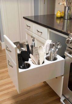 Prácticos y creativos organizadores de cocina.
