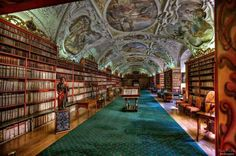Amazing Libraries around the World: Strahov Monastery Library in Prague (image: Nick Plichta) World Library, Hope For The Future, House Rooms, City Photo, University, Around The Worlds, Vacation, Places, Books