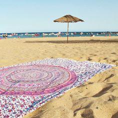 NOVEDAD! Toalla XL Pink Saigur #Toallaredonda #toallasredondas #toallaredondadeplaya #toallamandala #toallaxl #mandala #mandalaverano #toallagigante